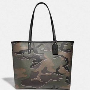 COACH Reversible City Tote in Wild Camo Camouflage